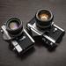 Minolta SR-1s and Nikon F