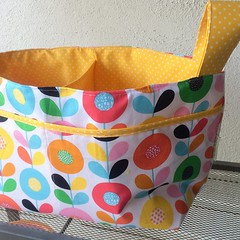 My all time fave bag - the divided fabric basket #idoublera_made2014 #idoublera_made2014