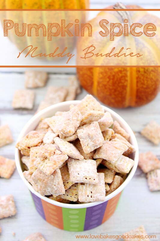 edible homemade gifts, pumpkin puppy chow chex mix