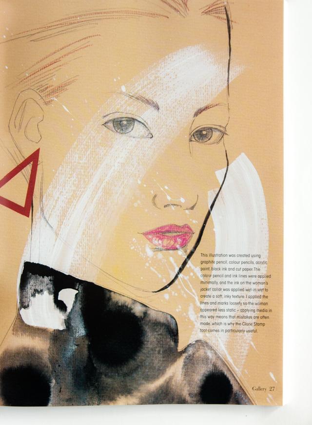 cutting edge fashion illustration - mixed media illustration