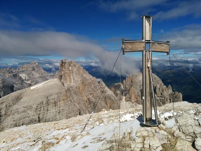 Gipfelkreuz Hochbrunner Schneid 3.046 m
