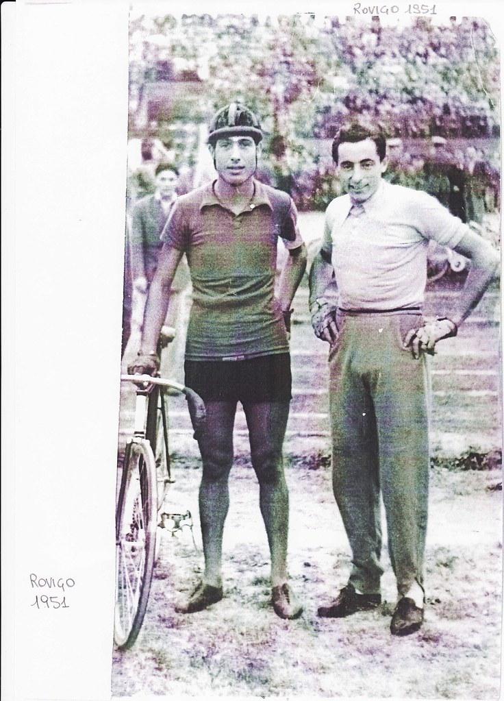 Luigi Benvenuti e Fausto Coppi - Rovigo 1951