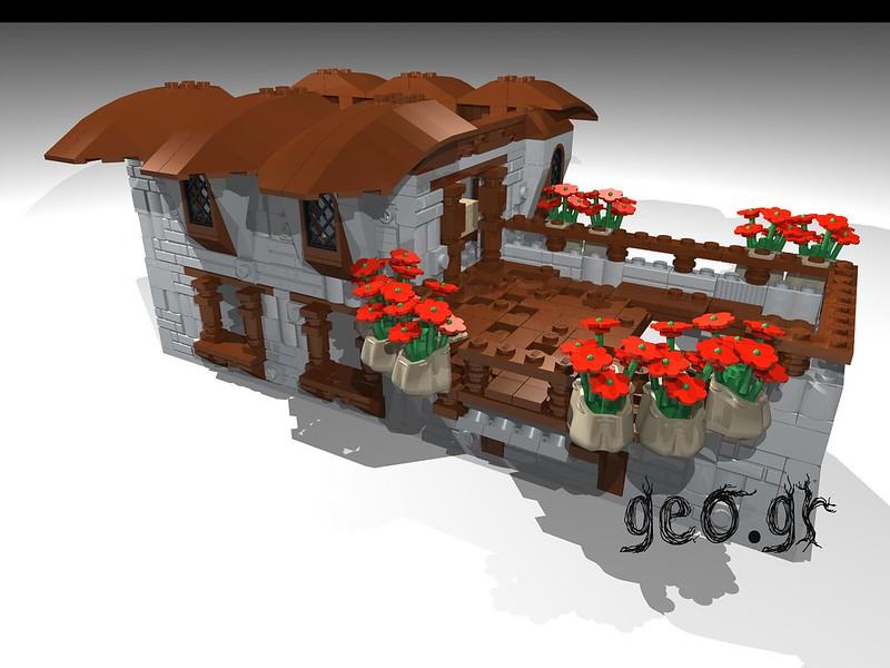 [Digital MOC]:Modular Cottage House 15275468716_119aa6375f_c