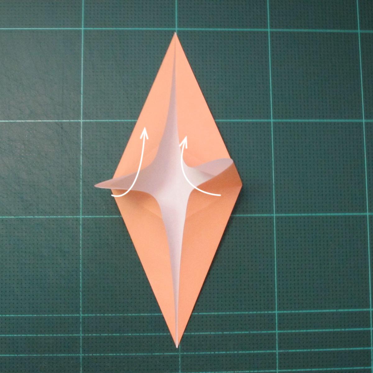 วิธีพับกระดาษเป็นรูปปลาโลมาแบบง่าย (Easy Origami Dolphin) 004