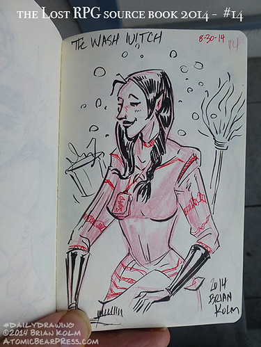 08-30-2014 #dailydrawing #lostRPG wash witch