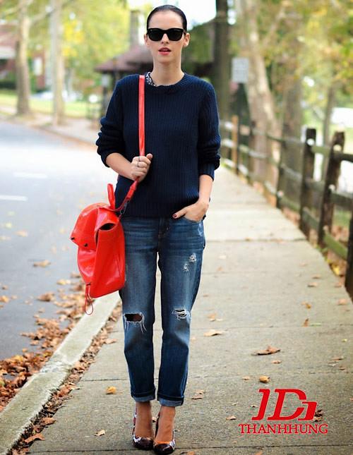 Mẫu quần jeans boyfriend nữ đẹp CỰC chất 4
