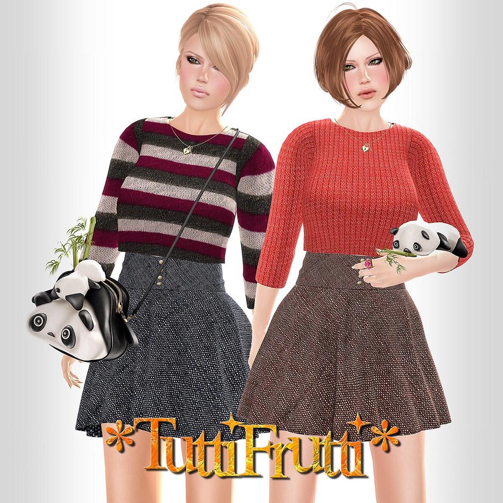 *TuttiFrutti* Ivy Mesh Sweaters & Skirts