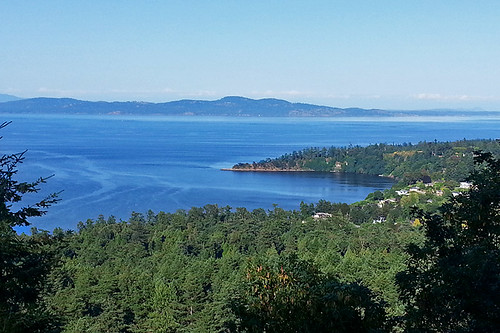 View of Cordova Bay from Mount Douglas Park, Victoria, Vancouver Island, British Columbia