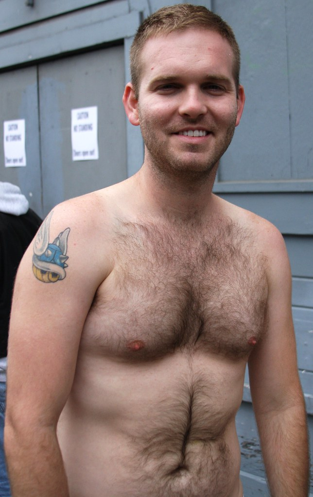 CUTE SEXY HAIRY BEARMAN!  FOLSOM STREET FAIR 2014 ! (safe photo)