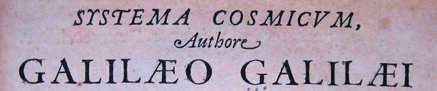 Galileo 1636 title page detail