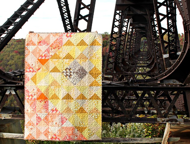 An Autumn Sun Quilt -- Kinzua Bridge
