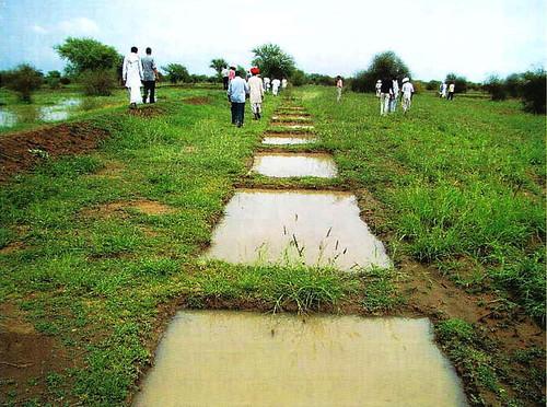लापोड़िया गाँव में बना पानी का चौका
