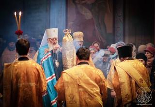 Литургия в Софийском соборе 100