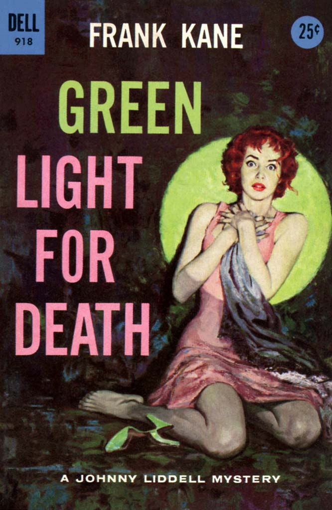 Cover Frank Kane, Green Light for Death, 1956