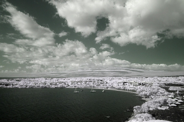 Anaehoomalu Bay Infrared Aerial