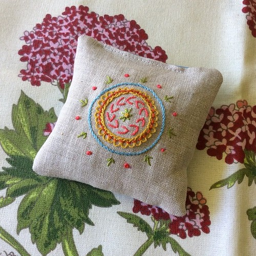 Filled with lavender and chamomile #embroidery