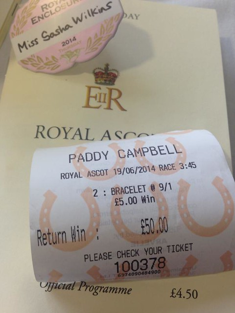 betting slip royal Ascot 2014 Ladies Day