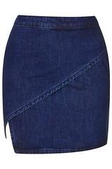 topshop MOTO Denim Wrap Skirt - Indigo dark wash