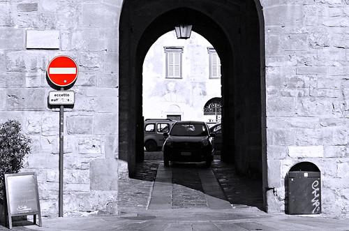 No entry, Bergamo, Italy