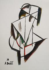 Aleksandar Basic - Back, Ink on paper, 2014