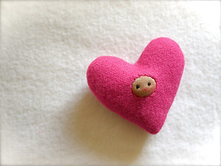 HEART: Dark Pink (tan)