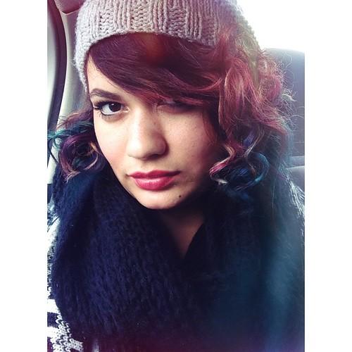 #winter #ootd #snood #black #grey #winterootd #pinkhair #purplehair #bluehair #manicpanic #southafrica #beauty  #wetnwild #wetnwildbeauty #rosebud #revlon #berryallure #pink #purple #blue @manicpanicnyc @anonamissgabbi #blogger #rabbitandrobinbeauty www.t