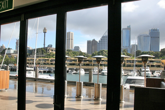 Otto Ristorante overlooks the FInger Wharf marina