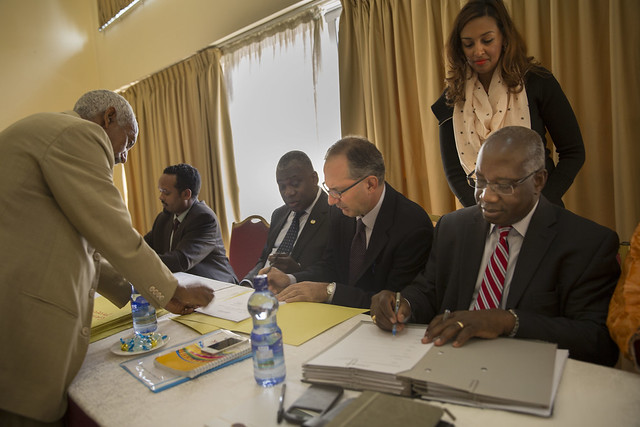 UN agencies signed Ethiopian Fiscal Year 2007 Work Plans with government.