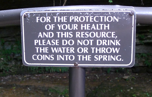 Warning Sign at the Sinking Spring