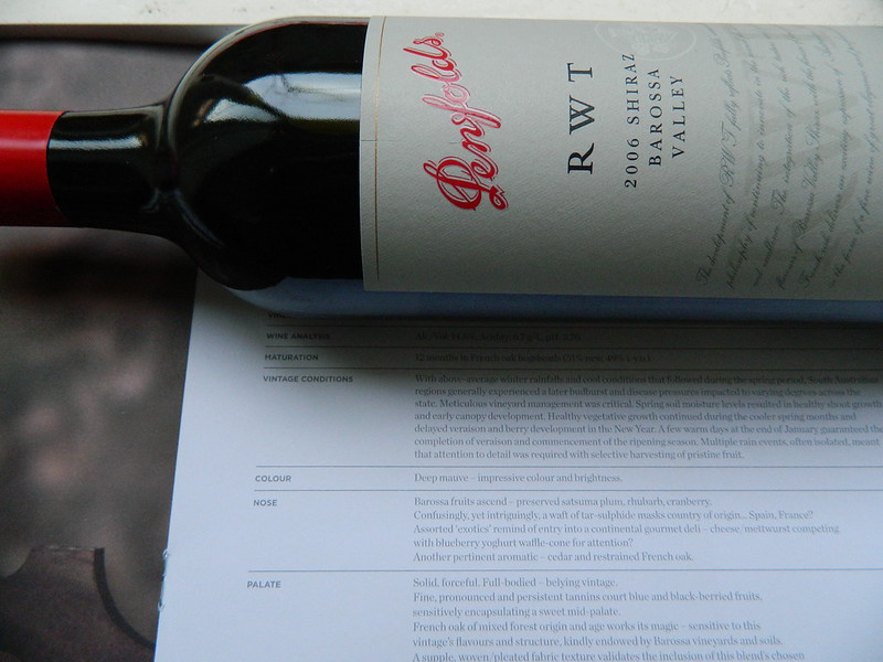 Penfolds 'RWT' Barossa Valley Shiraz 2006.. Bottle Shot