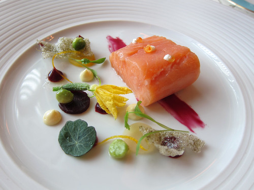 Var Salmon, Beetroot, Horseradish and Orange