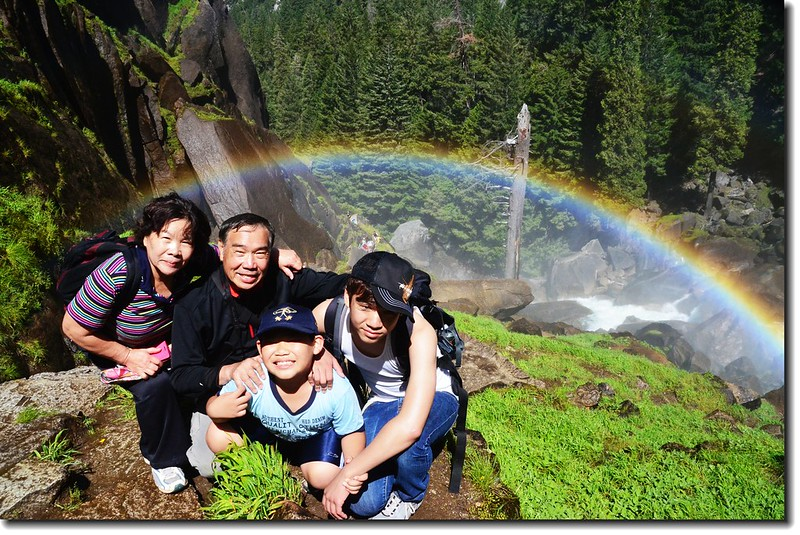 Taken under rainbow, Vernal Fall 2