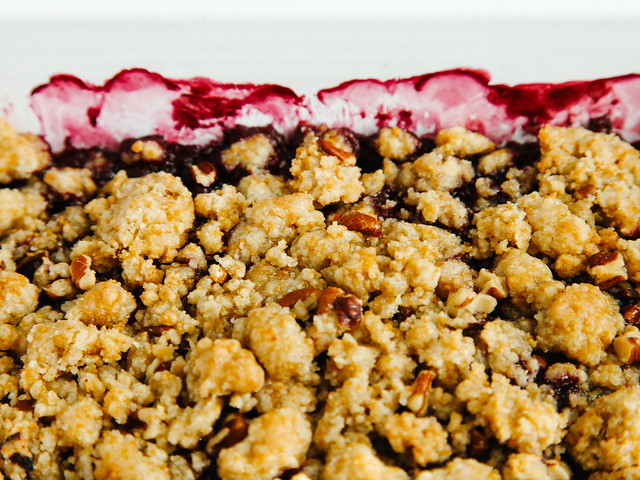 Summer fruit pecan crisp