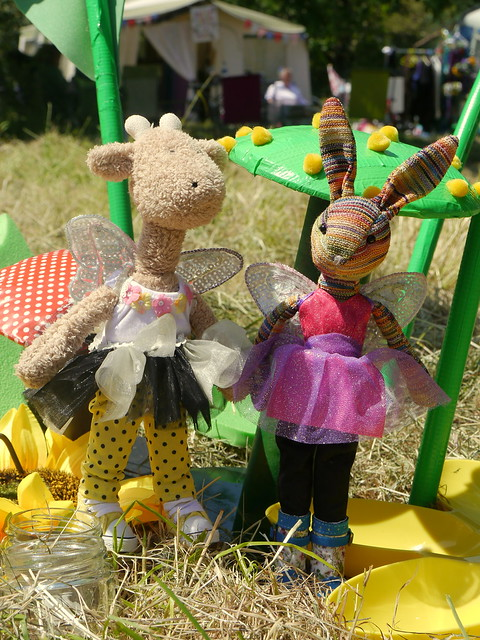 Georgia And Beulah Amongst The Toadstools, Fairy Festival