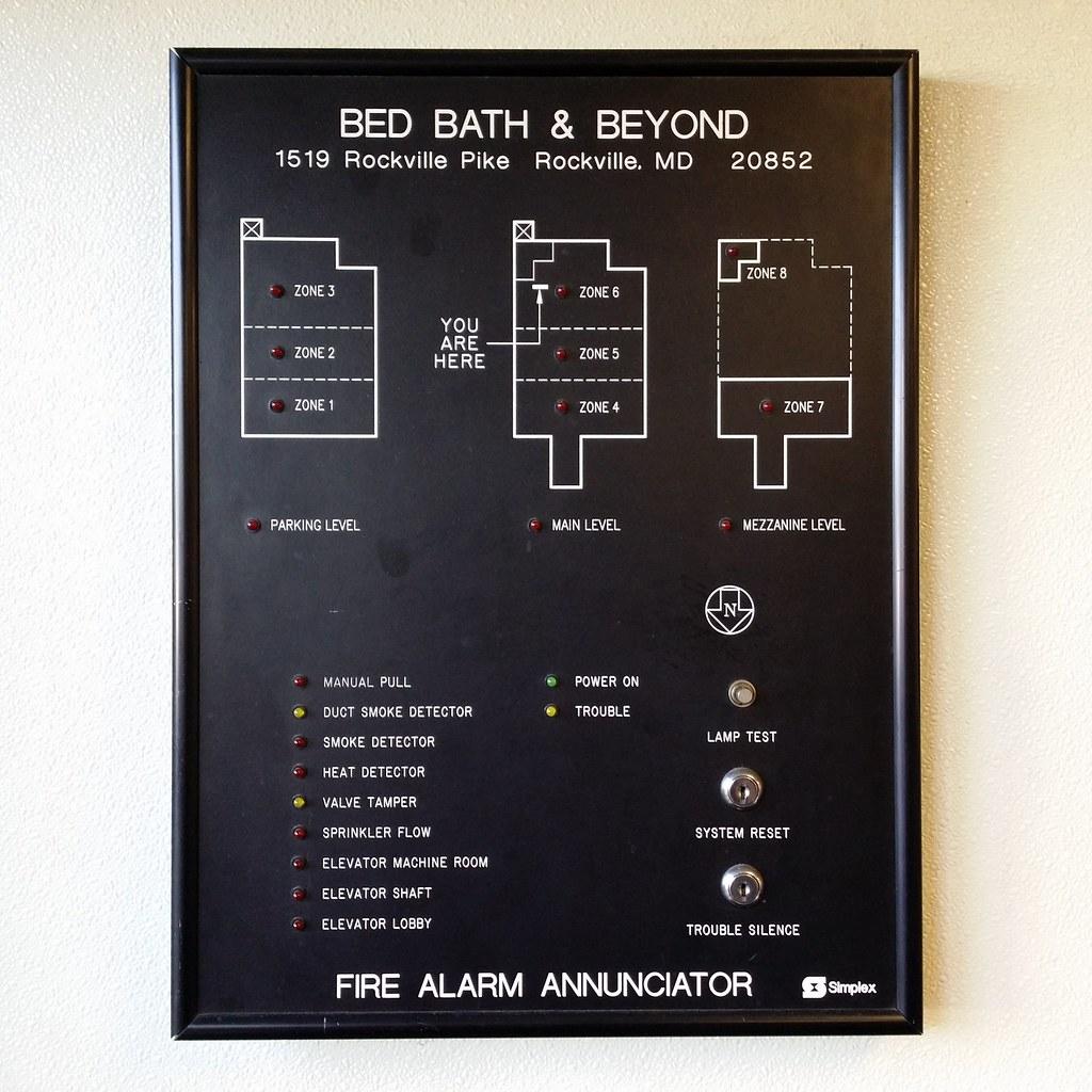 Fire alarm annunciator at Bed Bath & Beyond | Simplex fire a