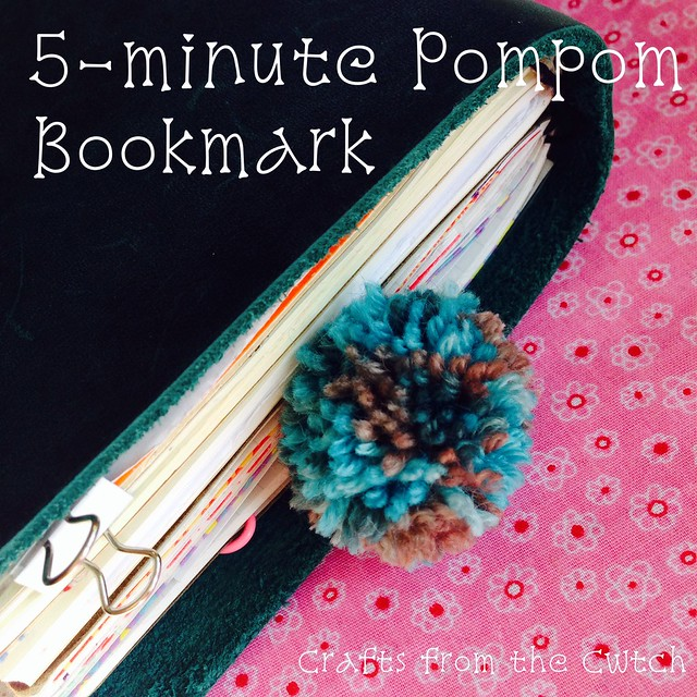 The Daily Pom: 5-minute Pompom Bookmark