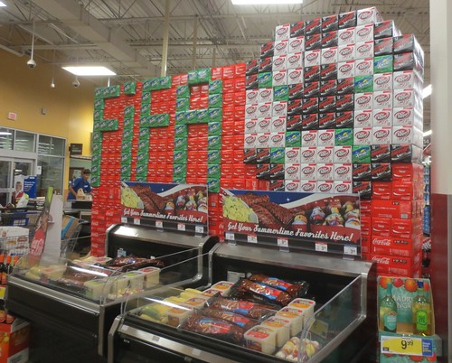 World Cup Coke display
