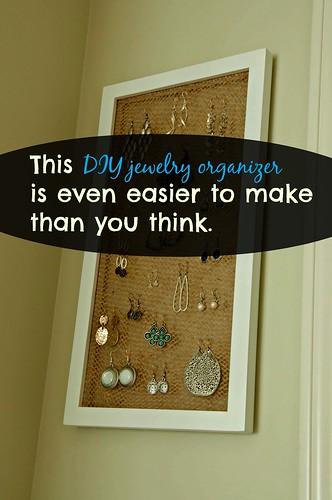 Create Earring Holder Using Frame and Burlap