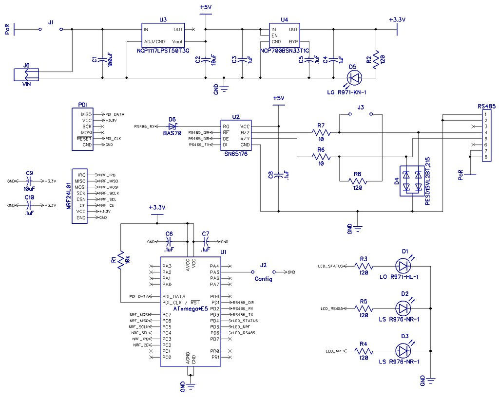 Nrfbridge Rs485 Nrf24l01 Bridge 485 Wiring Connection Diagram 20140724 Schematic