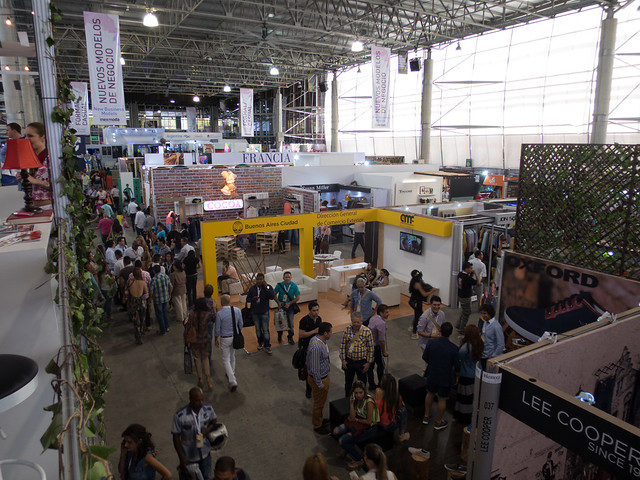 One of several exhibition halls