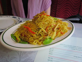 Singapore Noodles at Bamboo Garden