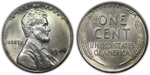 Lincoln Cent Struck on a Silver Netherlands 25c Planchet
