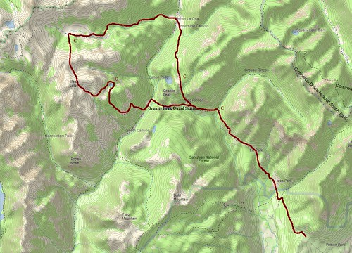 route and camp topo