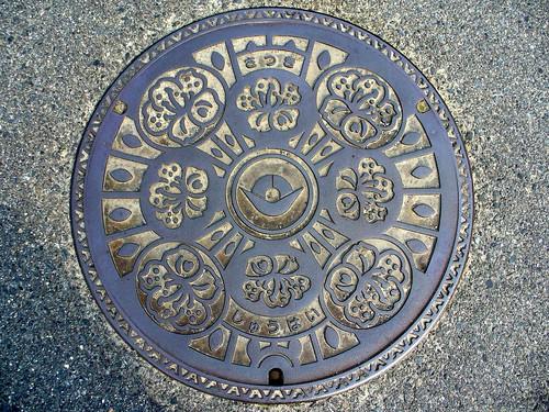 Hashimoto Wakayama, manhole cover 2 (和歌山県橋本市のマンホール2)