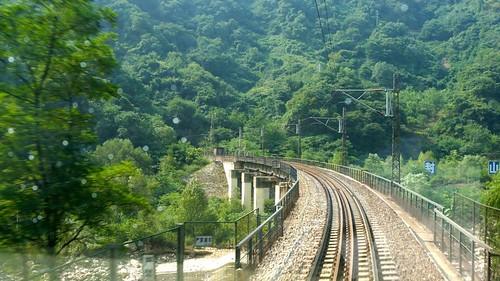 秦岭展线第一弯208大桥。