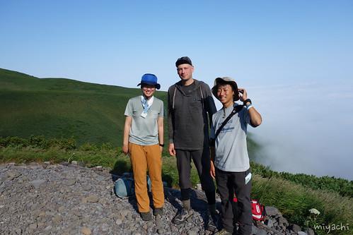 【83日目】念願の利尻岳登山!雲の上(北海道)