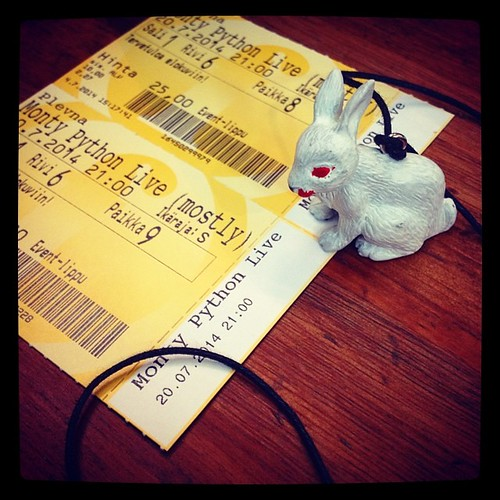 #100happydays 96: It. Was. Bloody. Perfect. <3 #montypython #montypythonlivemostly #killerrabbit