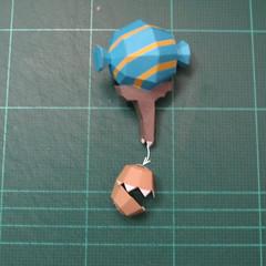 วิธีทำโมเดลกระดาษของเล่นคุกกี้รัน คุกกี้รสพ่อมด (Cookie Run Wizard Cookie Papercraft Model) 028