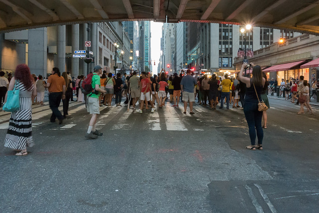 Shooting under Park Avenue at Manhattanhenge