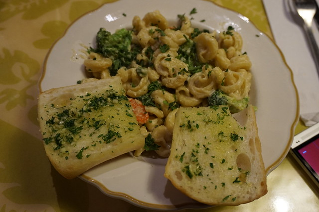Campanelle pasta with Alfredo Sauce